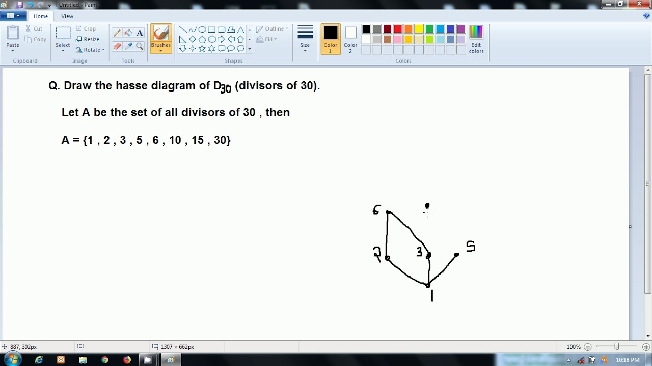 Discrete Structure Hasse Diagram Of D30 Divisors Of 30 Hindi Youtube