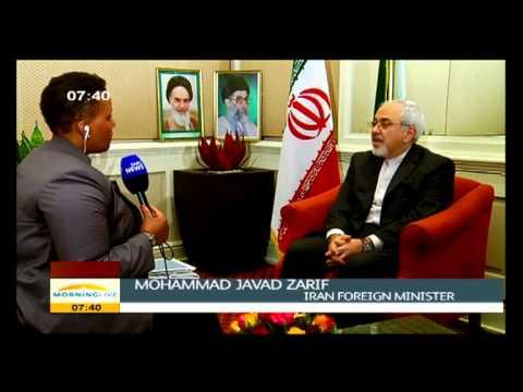 Desiree Chauke talks to Mohammad Javad Zarif (Iran