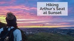 Hiking Arthur's Seat at Sunset, Edinburgh