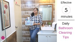 How To Clean Bathroom FAST / Daily Bathroom Cleaning Routine