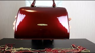 Обзор на лакированную сумку-саквояж