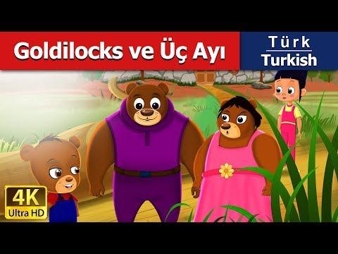 Goldilocks ve Üç Ayı - Peri Masalları - 4K UHD - Turkish Fairy Tales - türkçe peri masalları