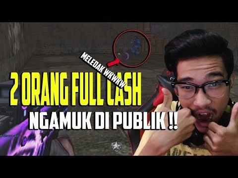 DUA FULL CASH MENGAMUK DI PUBLIK !! NGERUSUH DI PUBLIK LAGI WKWKWKW - POINT BLANK GARENA INDONESIA