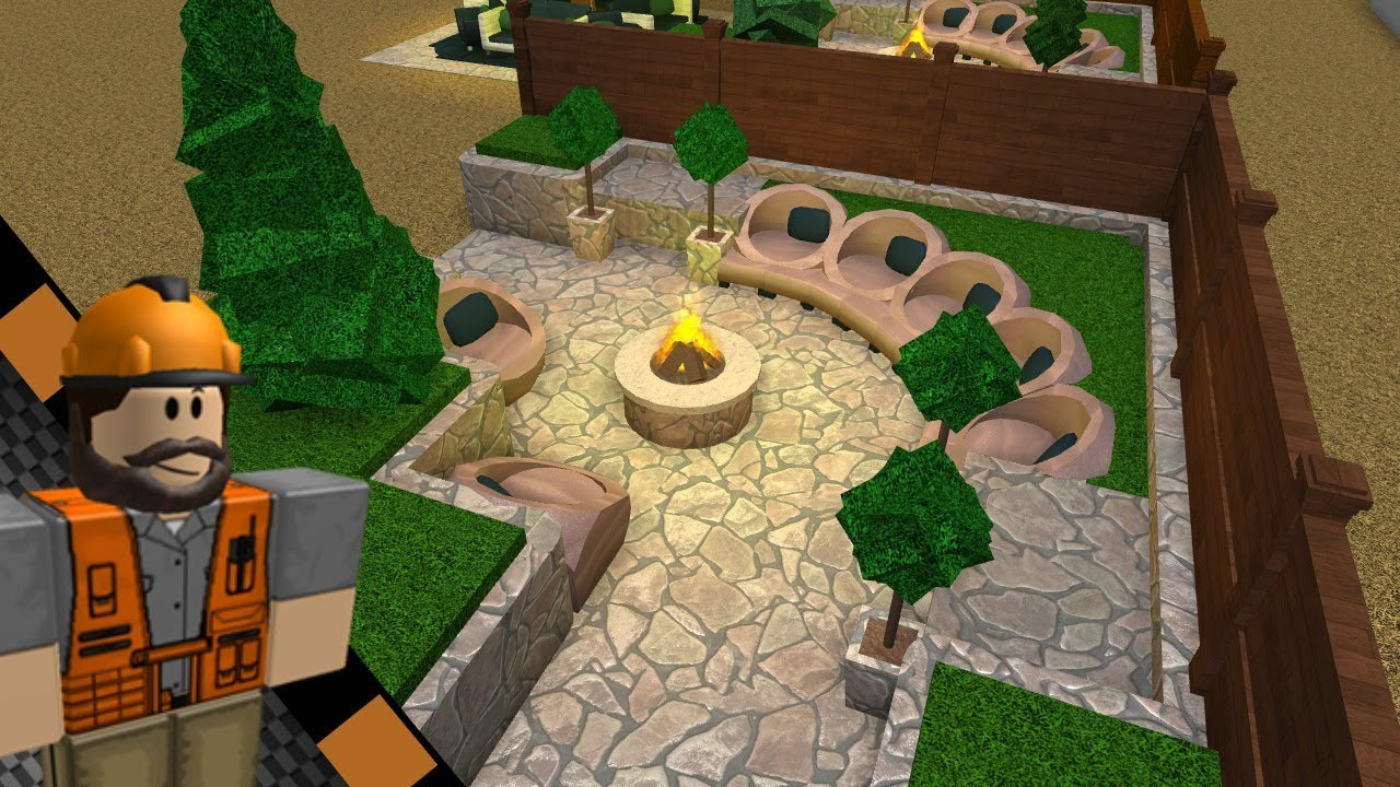Roblox Bloxburg Backyard Ideas Ep 1 Youtube