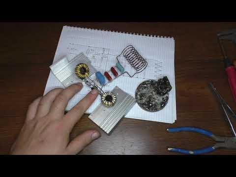 Индукционный нагреватель металла своими руками схема