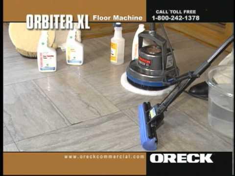 Oreck Commercial Orbiter Floor Machine Concrete Cleaning