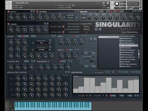 Singularity Lite for Kontakt - Free Synthesizer - Presets Demo