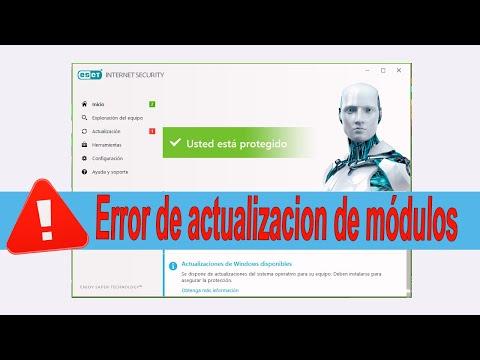 [SOLUCIÓN] Error Actualización Módulos 2019   Eset Antivirus