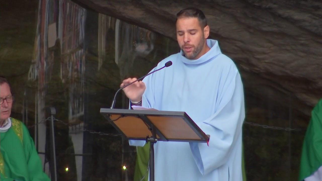 Messe du 12/07/2020 à la Grotte de Lourdes. Sanctuaire de Lourdes.