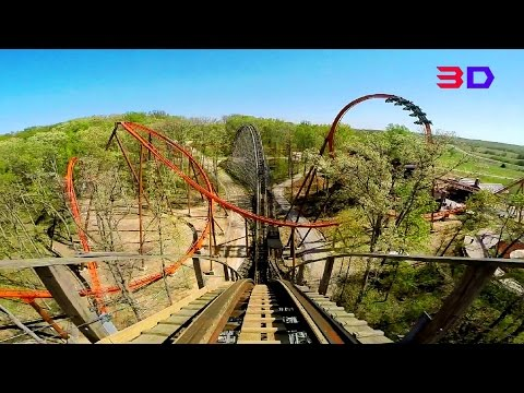 The Voyage 3D front seat on-ride HD POV @60fps Holiday World