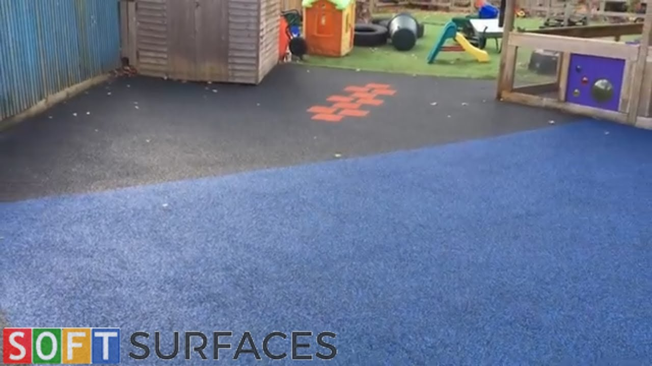 Download Playground Safety Surfacing with Graphics in Shrewsbury, Shropshire   Wet Pour Installation