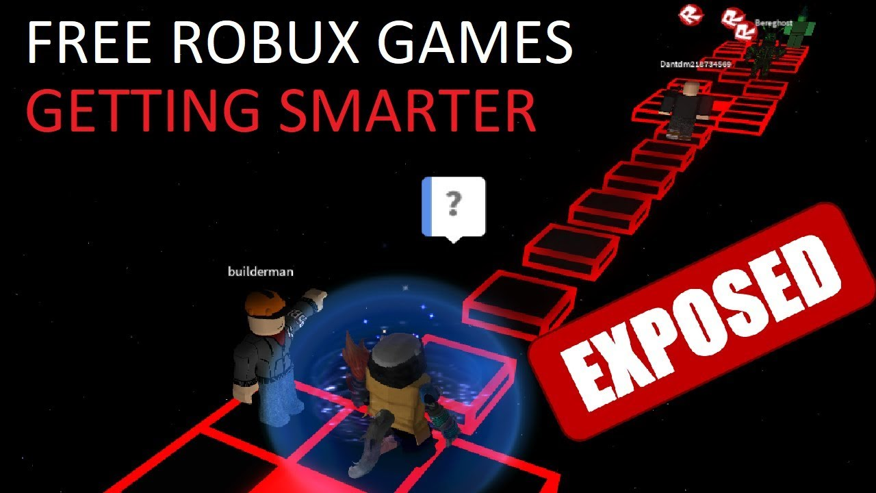 FREE ROBUX GAMES ARE GETTING SMARTER AND SMARTER - YouTube