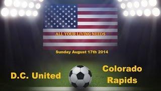 MLS D.C. United vs Colorado Rapids Predictions Major League Soccer 2014