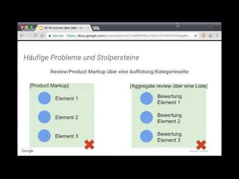 German / Google Structured Data Webmaster Central Sprechstunden-Hangout auf Deutsch