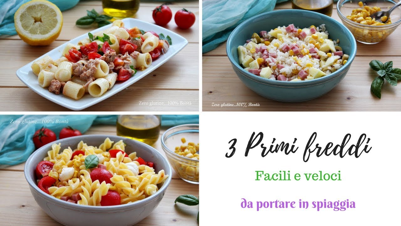 Piatti Freddi Veloci Da Asporto 3 primi freddi , facili e veloci - ft. le ricette di mami