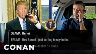 Trump Calls Obama To Discuss The Oscars & More  - CONAN on TBS