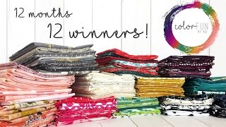 epic agf colorfun giveaway 2017   12 months of colorful fabrics 12 winners