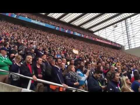 Flower of Scotland, Samoa v Scotland, St James's Park, Newcastle, Rugby World Cup 2015