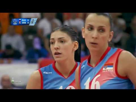 2015 Women EuroVolley Serbia VS Russia Volleyball European Semi Final