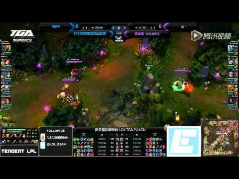 Invictus Gaming versus OMG (Tencent LPL week 3)