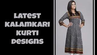 120 Modern Kalamkari Kurti Designs