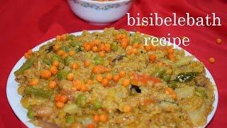Bisibelebath recipe/Bisibele huli anna/Karnataka special recipe Bisibelebath in kannada/dal veg rice