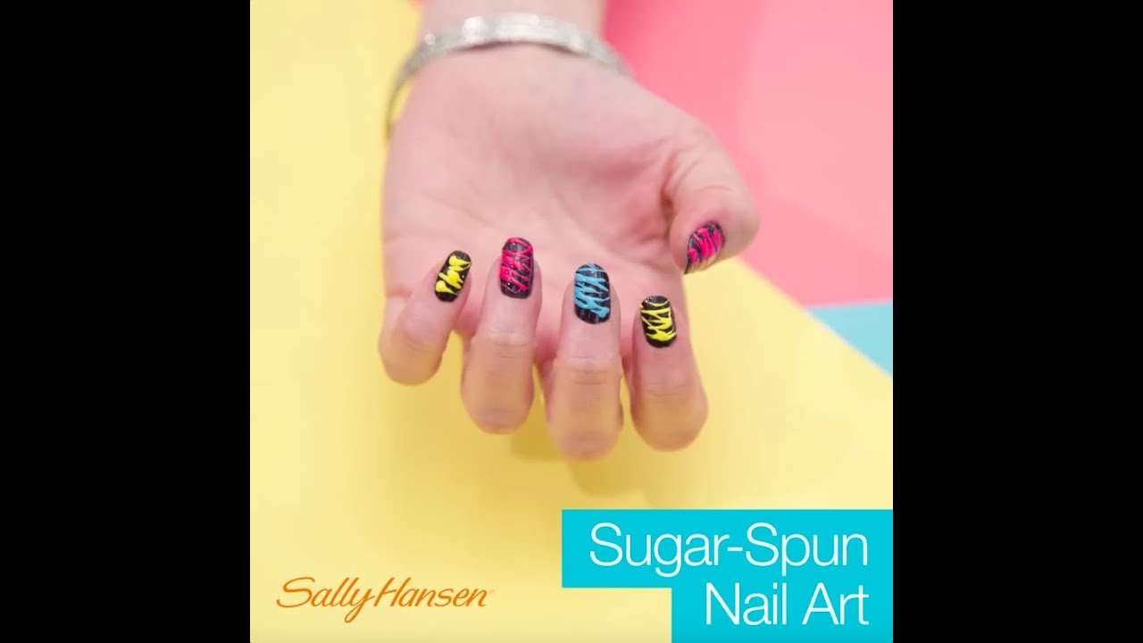 Sugar Spun Nail Art Tutorial Youtube