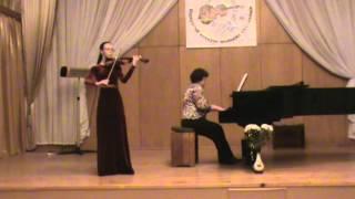"""И. Мохначева """"Украинская песня"""" для скрипки с фортепиано - Шаповал Анастасия"""