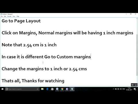 How To Set 1 Inch Margins In Microsoft Word?
