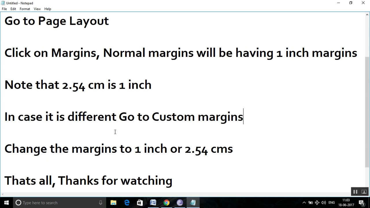 How To Set 1 Inch Margins In Microsoft Word?  One Inch Margins