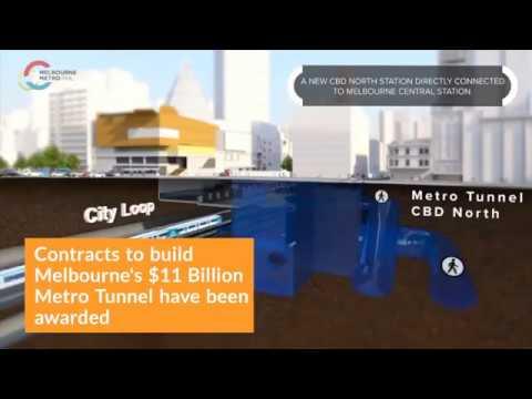 Construction Set to Begin on Melbourne's $11 Billion Metro Tunnel