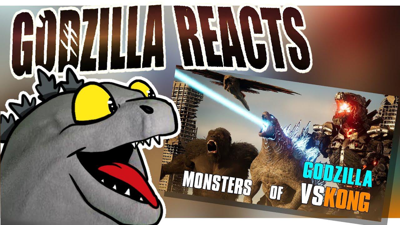 Godzilla Reacts| MONSTERS of GODZILLA VS KONG: Size Comparison (2021)