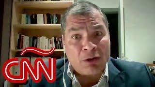Rafael Correa dice que Lenín Moreno rompió la democracia y pide anticipar elecciones