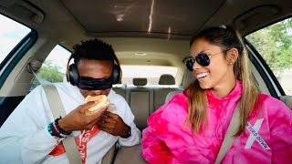 GUESSING THE FAST FOOD ITEM BLINDFOLDED CHALLENGE!