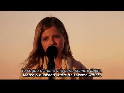 Jackie Evancho - Nella Fantasia W Wyobraźni Tłumaczenie Polskie Napisy Tekst Lyrics Eng Sub