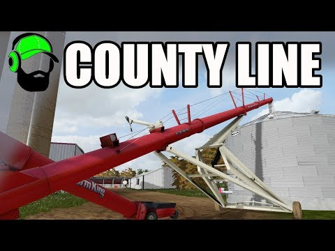 Farming Simulator 17 - County Line - New silo and corn harvesting -#FS17