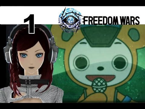 Freedom Wars - PS VITA Let's Play Walkthrough 1 - Opening + Character Customization