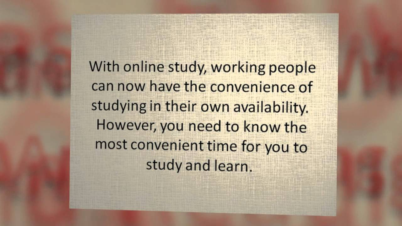 Blurb about convenience of online courses