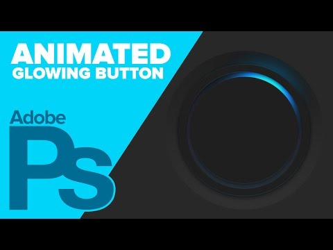 How To Create An Animated Glowing Button In Photoshop
