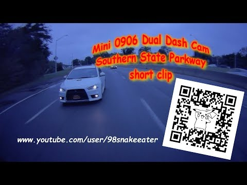 New Mini0906 Dual Dash Cam On Southern State Parkway (short Clip)