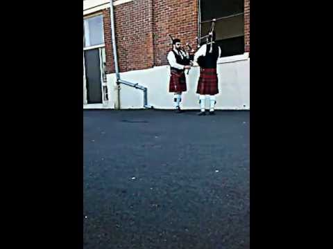 Irish Bag Pipers Warming up @ Irish Fesival in Newport, Rhode Island