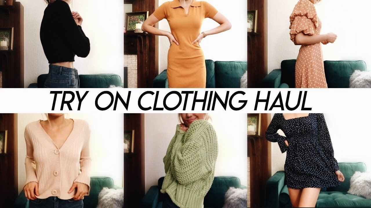 HUGE TRY ON CLOTHING HAUL | end of summer and fall pieces