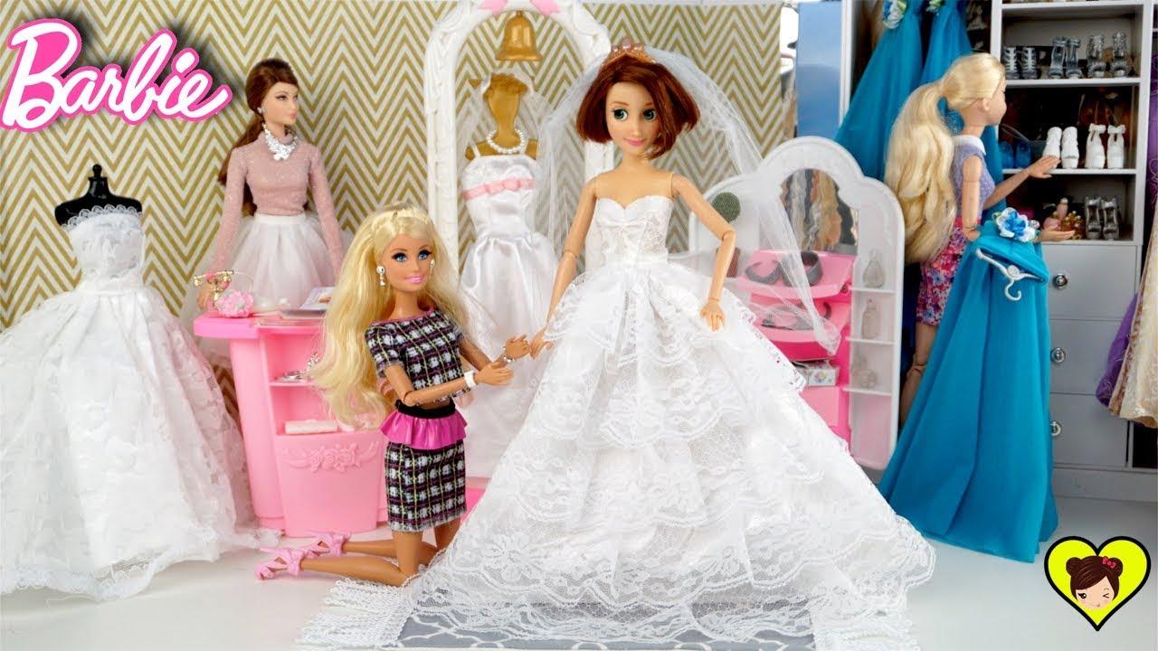 96683ff98 Princesa Rapunzel se Prueba Vestidos de Novia para Muñecas Barbie ...