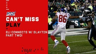 Eli Connects w/ Darius Slayton AGAIN for the TD!