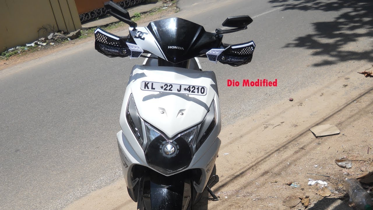 Hand guard in honda dio modification with and