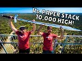 MASSIVE SWORD Vs. 10,000 Sheets of Paper from 150ft!