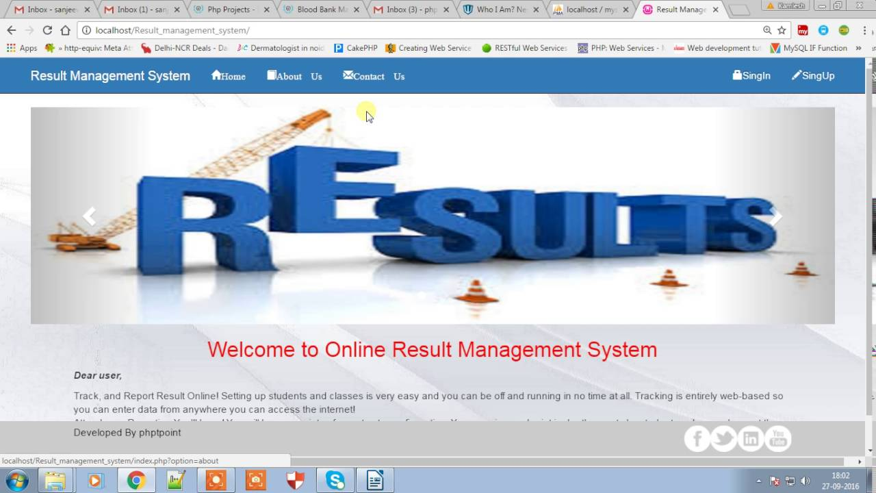 Download Student Result Management System - phptpoint