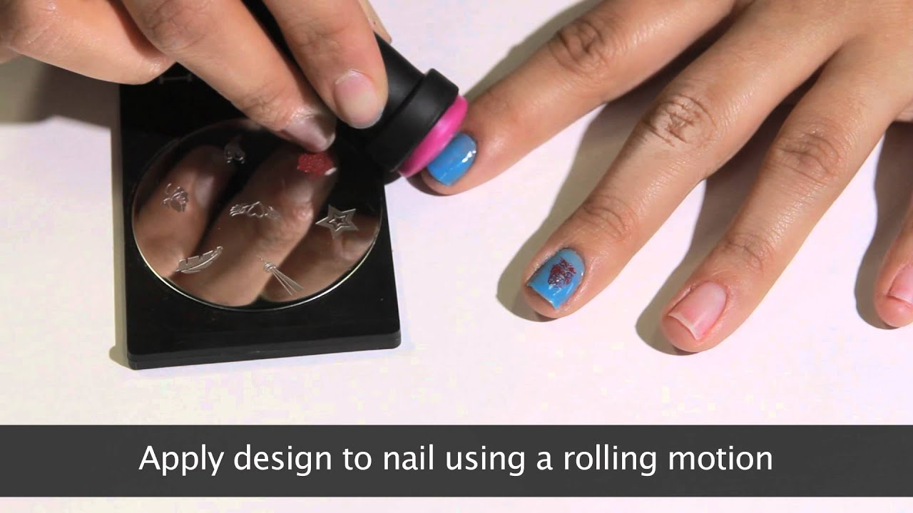 MASH Nails Nail Art Stamping Video Demonstration - YouTube