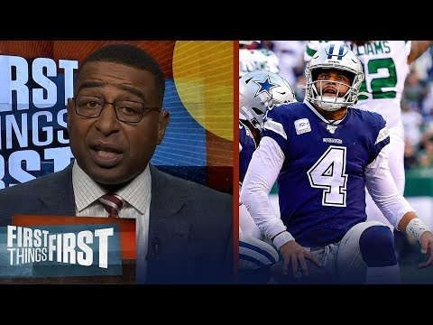 Cris Carter is alarmed by the Cowboys loss to the Jets, talk Texans win | NFL | FIRST THINGS FIRST