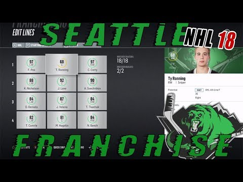 "NHL 18: Seattle Franchise Mode #66 ""TY RONNING NIGHT!"""